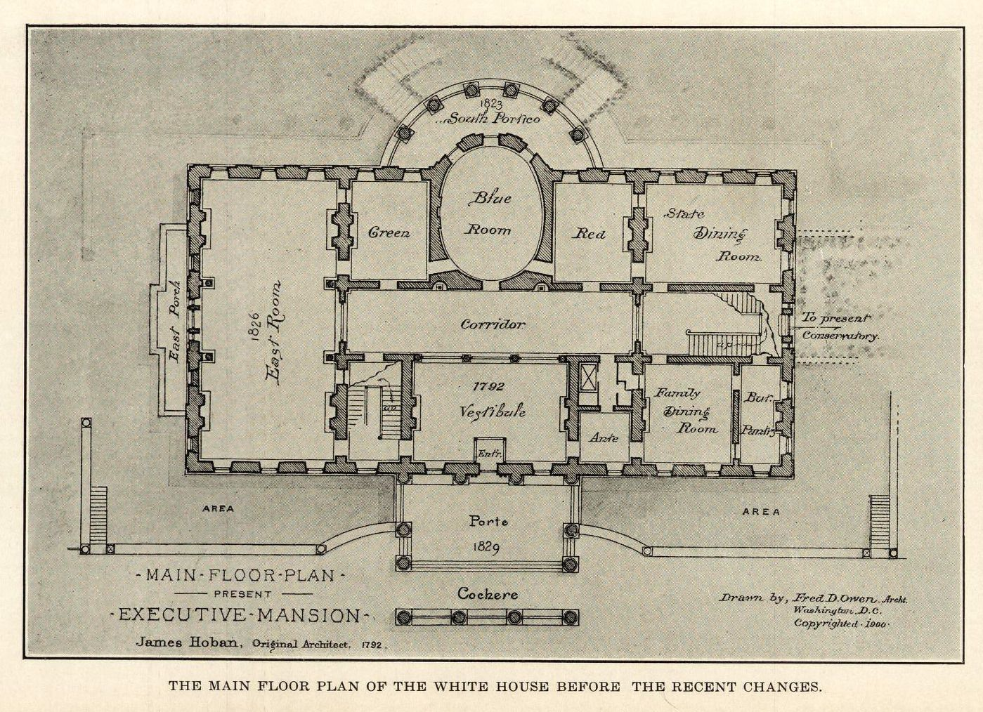 Floor Plan Of The White House Washington D C Floor Plans Vintage House Plans Classic House Exterior