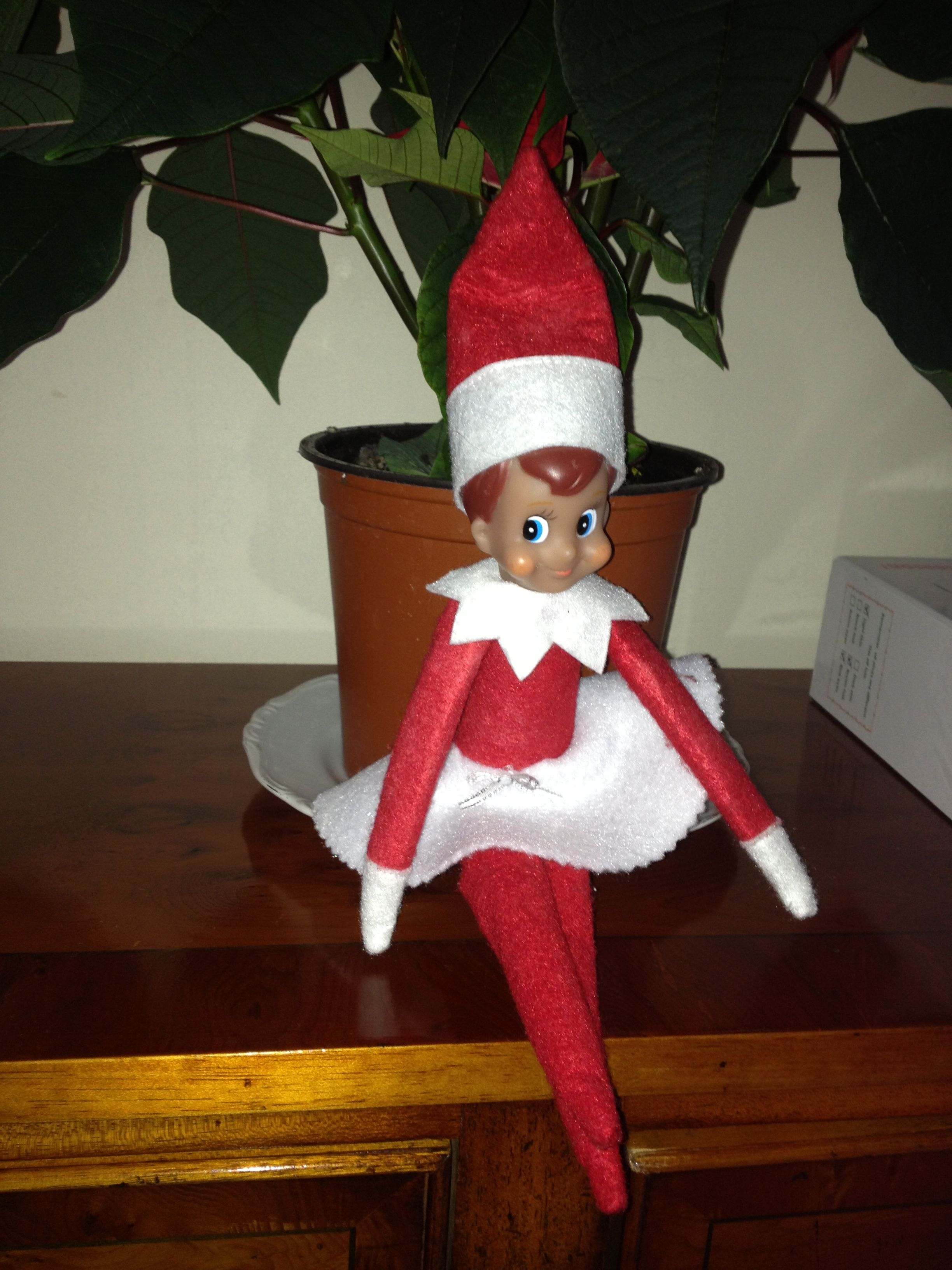 A Disc Of White Felt Turns A Boy Elf On The Shelf Into A Girl