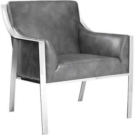 Hyde Arm Chair Leather Armchair Grey Armchair Armchair