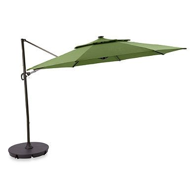 11 Foot Round Solar Cantilever Umbrella Patio Umbrella Solar Umbrella Offset Patio Umbrella