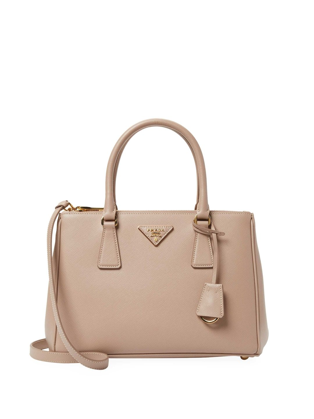1b28302368a1 PRADA GALLERIA DOUBLE ZIP SMALL SAFFIANO LEATHER TOTE. #prada #bags #shoulder  bags #hand bags #leather #tote #lining #