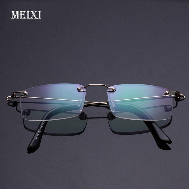 7b99c575ffc Rimless Memory Metal Frame Aspherical Resin Ultralight Hmc Coating Reading  Glasses Women Men Eyewear 1.0 1.5 2 2.5 3 3.5 4 Review