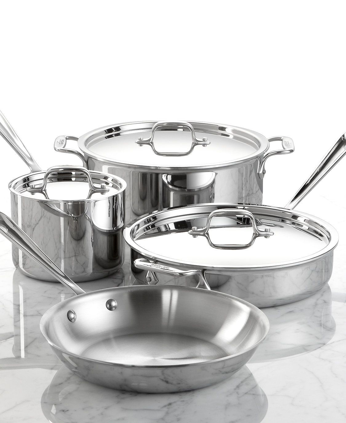All Clad Stainless Steel 7 Pc Cookware Set Created For Macy S Reviews Cookware Sets Macy S Cookware Set Stainless Steel Cookware Induction Cookware All clad 7 piece set