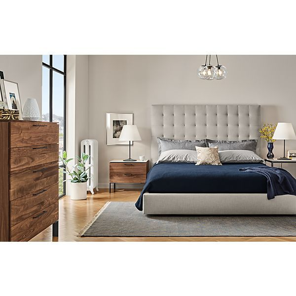 Avery Bedroom With Kenwood Collection In Walnut Modern Bedroom Impressive Bedroom Boards Collection