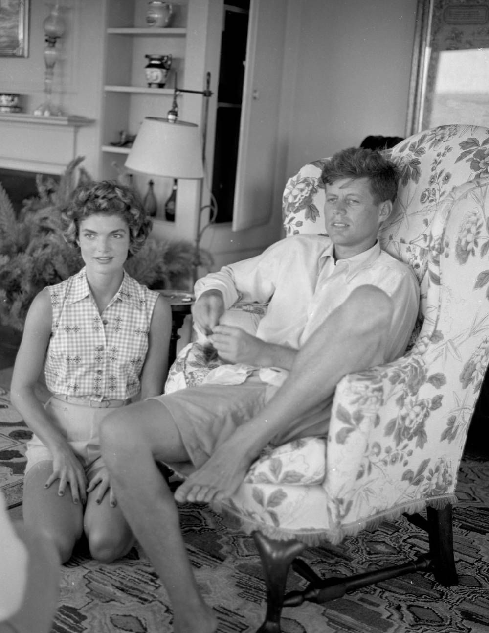 Jackie Kennedy Grandchildren: John F. Kennedy And Jacqueline Being Interviewed By LIFE