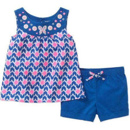 Healthtex Toddler Girls/' Flutter Sleeve Baby Doll Dress