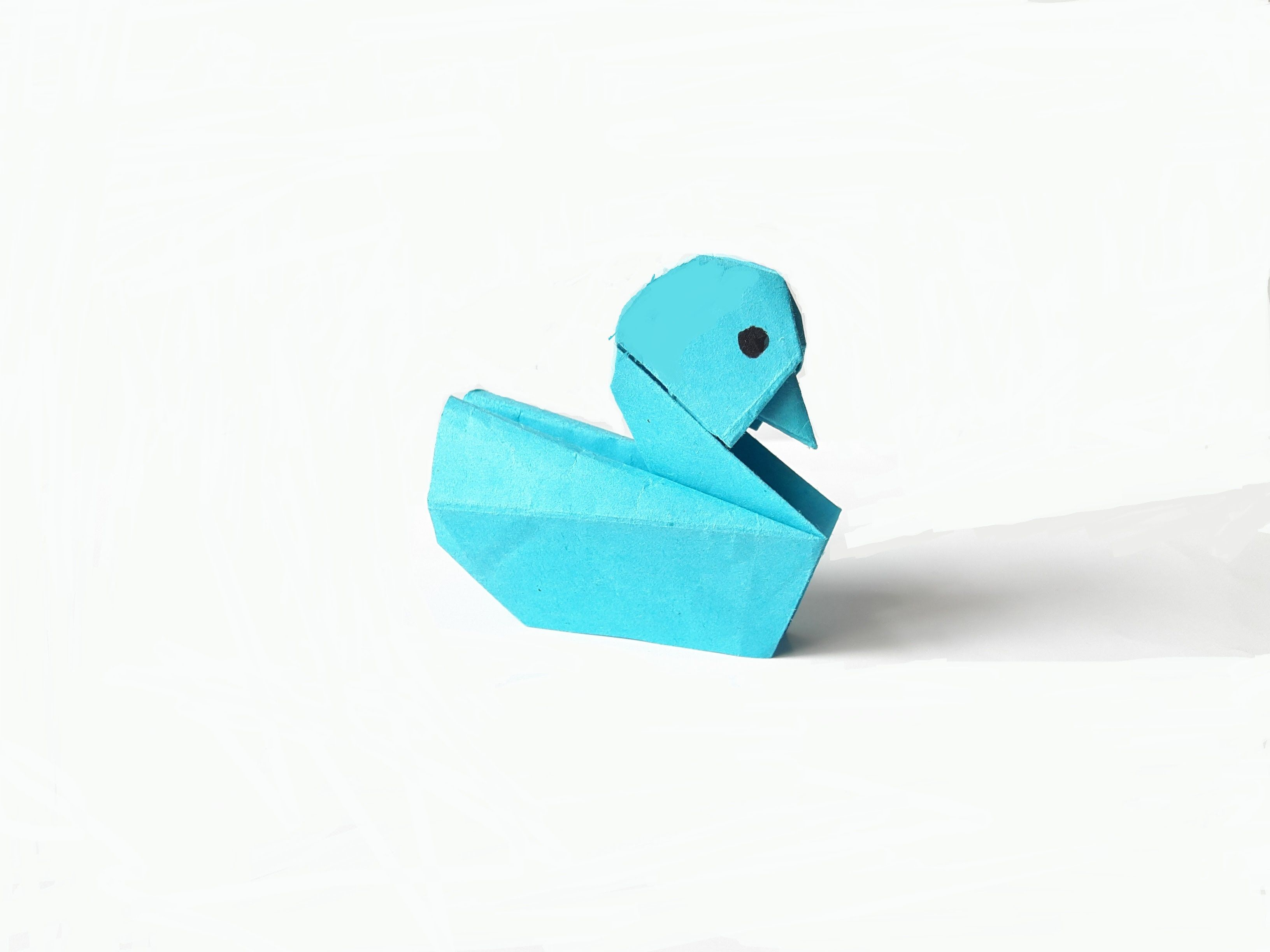 Easy Origami Duck For Beginner Paper 16x8 Cm