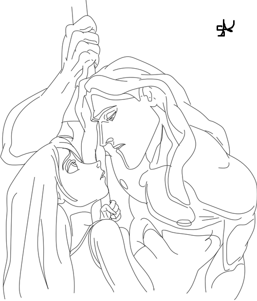 Tarzan and Jane on Vine Coloring Page https://www.facebook.com ...