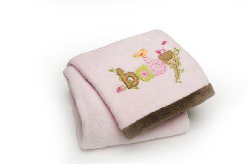 Carter's Sweet Baby Blanket, Pink Bird Carter's.