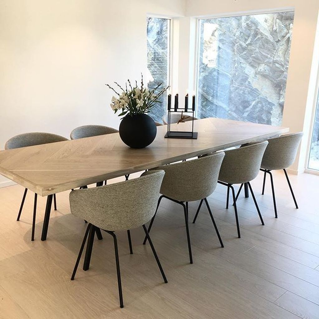 33 Amazing Modern Dining Room Design Ideas You Will Love Homyhomee Wooden Dining Table Designs Large Wooden Dining Tables Dining Table Design