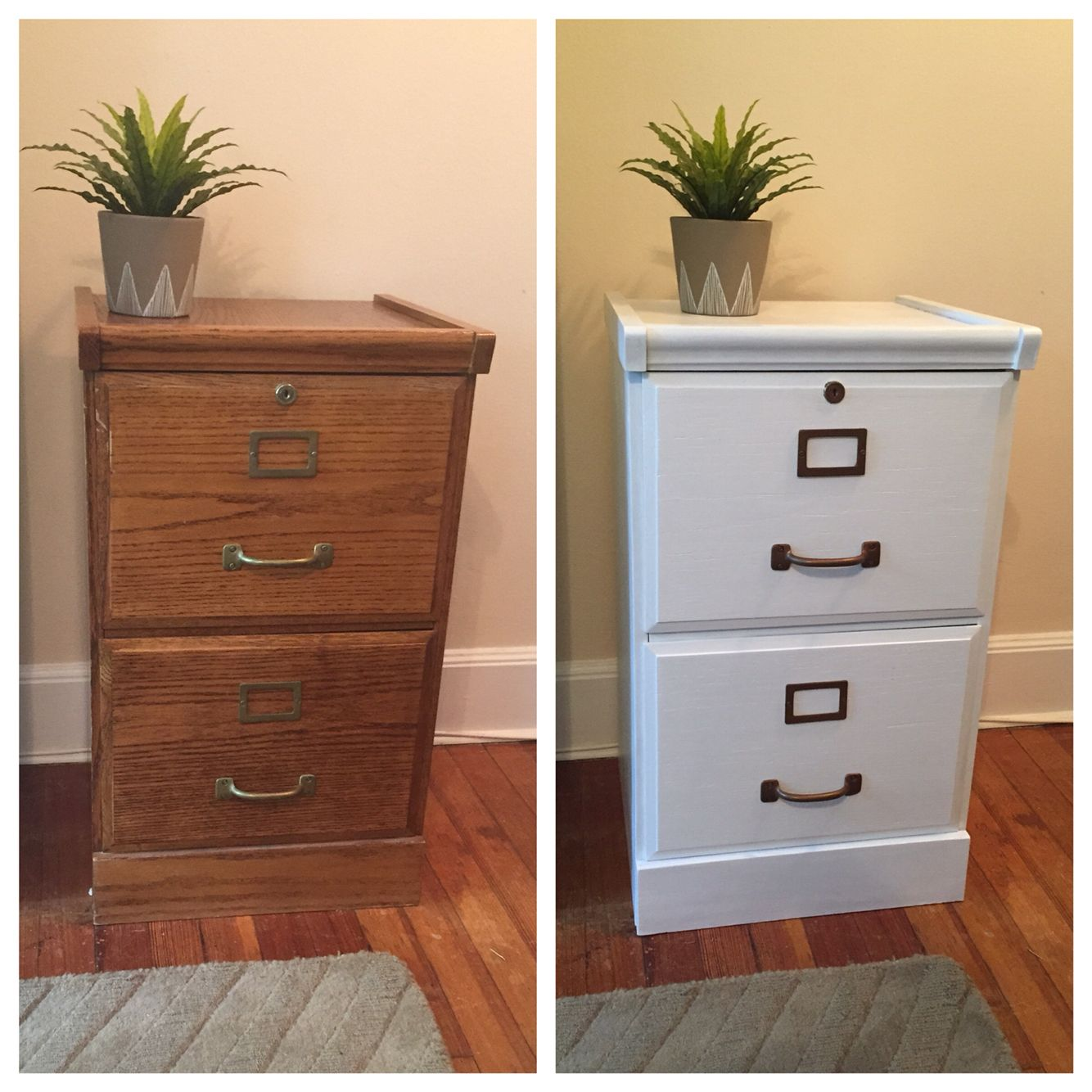 Small Wooden Filing Cabinet Before After Painted Semi Gloss