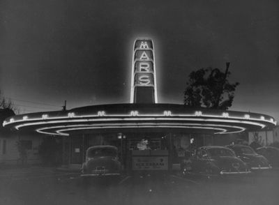 Mars Drive In Fresno Ca Was Located At The Nw Corner Of Belmont Ave Palm This Local Hangout On Cruise Night 60 S