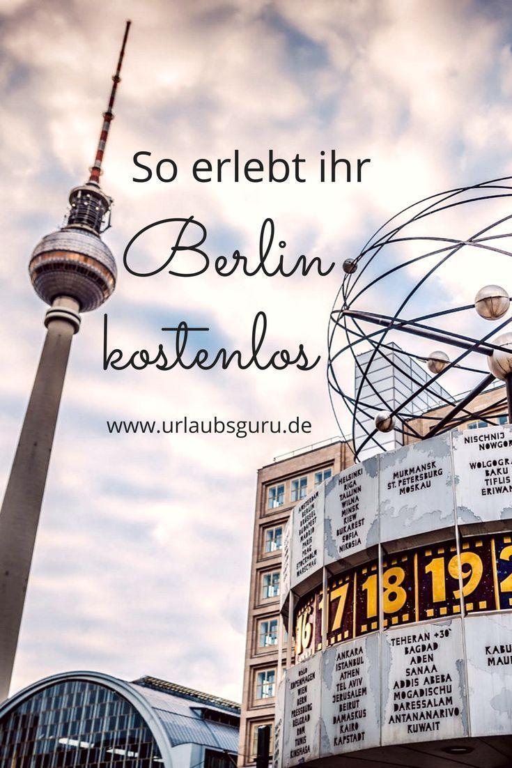 Ein Städtetrip nach Berlin muss kein Vermögen kosten. Die Stadt hat viele kostenlose Angebote. Ihr könnt Stadtführungen machen, Museen besichtigen und coole Events besuchen - und das alles vollkommen umsonst! Mit meinen Tipps, erfahrt ihr wie ihr bei eurer Berlin Reise Geld spart. #berlin #reisetipps #städtetrip #citiytrip #urlaubsguru #hauptstadt #sightseeing #event
