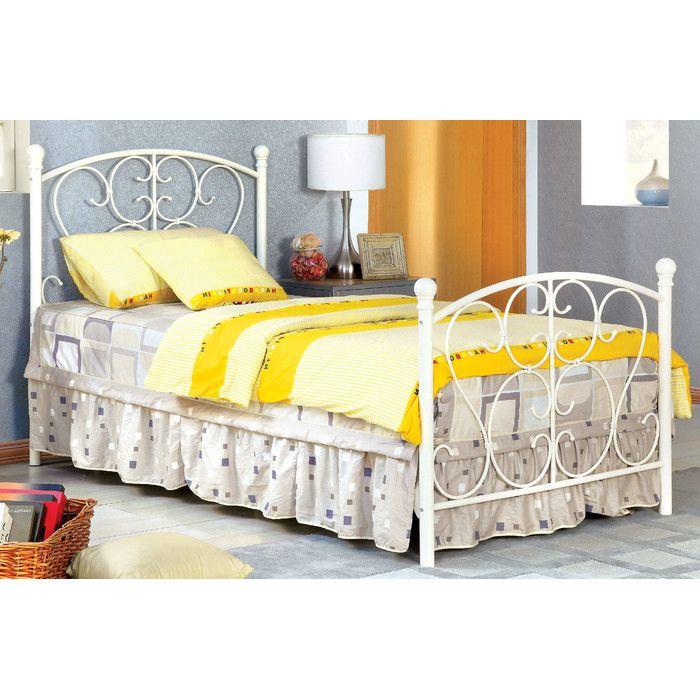 Hokku Designs Twin Wrought Iron Bed & Reviews   Wayfair   Kids Rooms ...