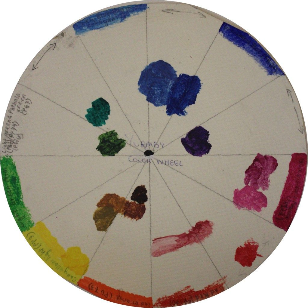 Yurmby Wheel From Paint Directly Out Of The Tube Tones Of Paint