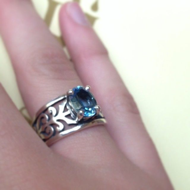 adoree ring with blue topaz instagram viewer jamesavery - James Avery Wedding Rings