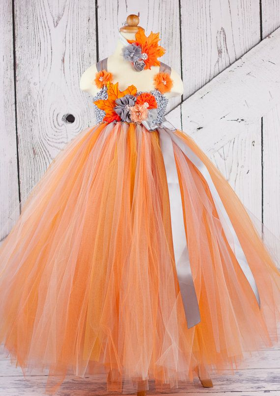 Autumn Flower Dress Tutu By Bananapickledesigns On Etsy 77 00