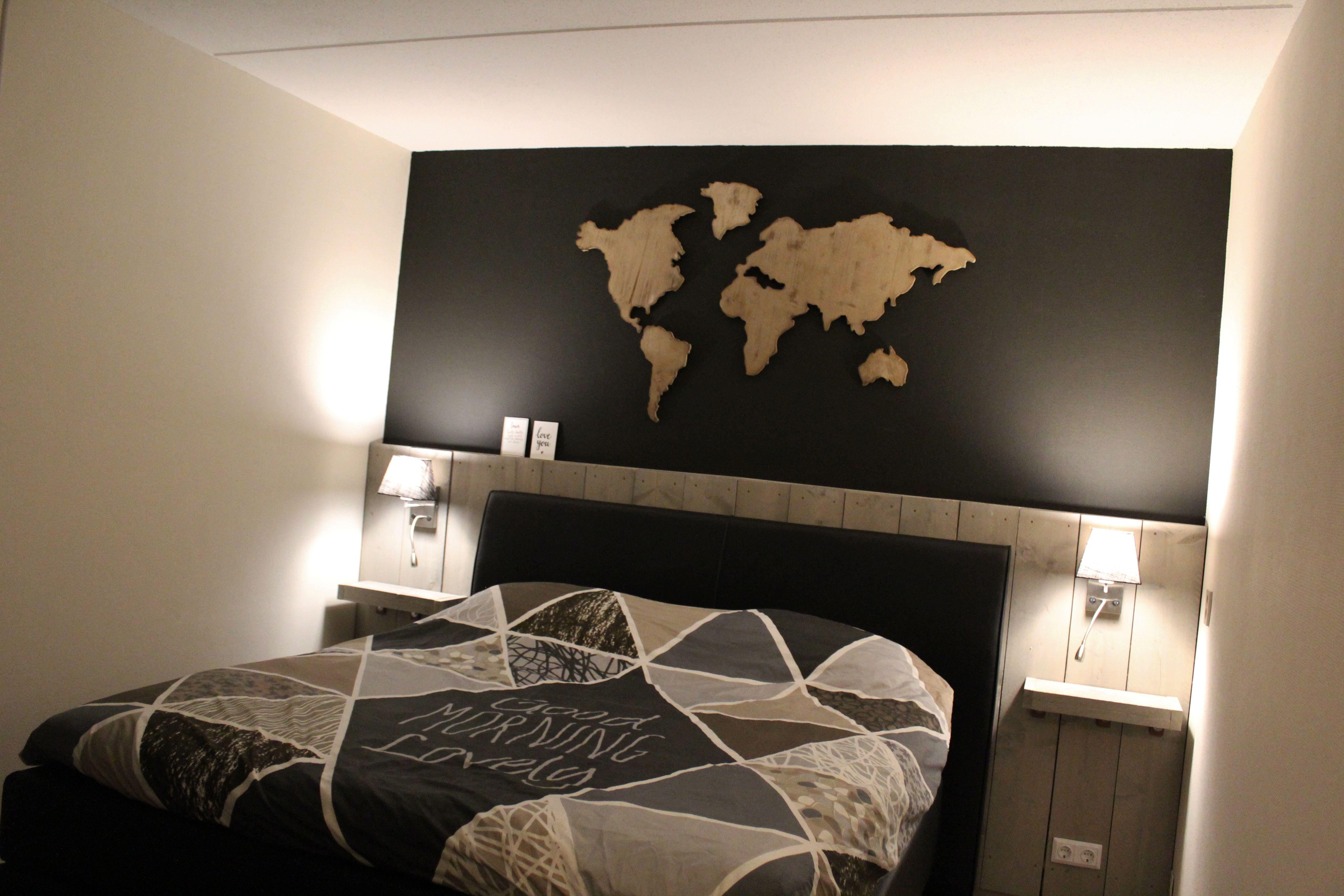 Achterwand Voor Slaapkamer : Onze nieuwe slaapkamer met de door ons zelfgemaakte steigerhouten