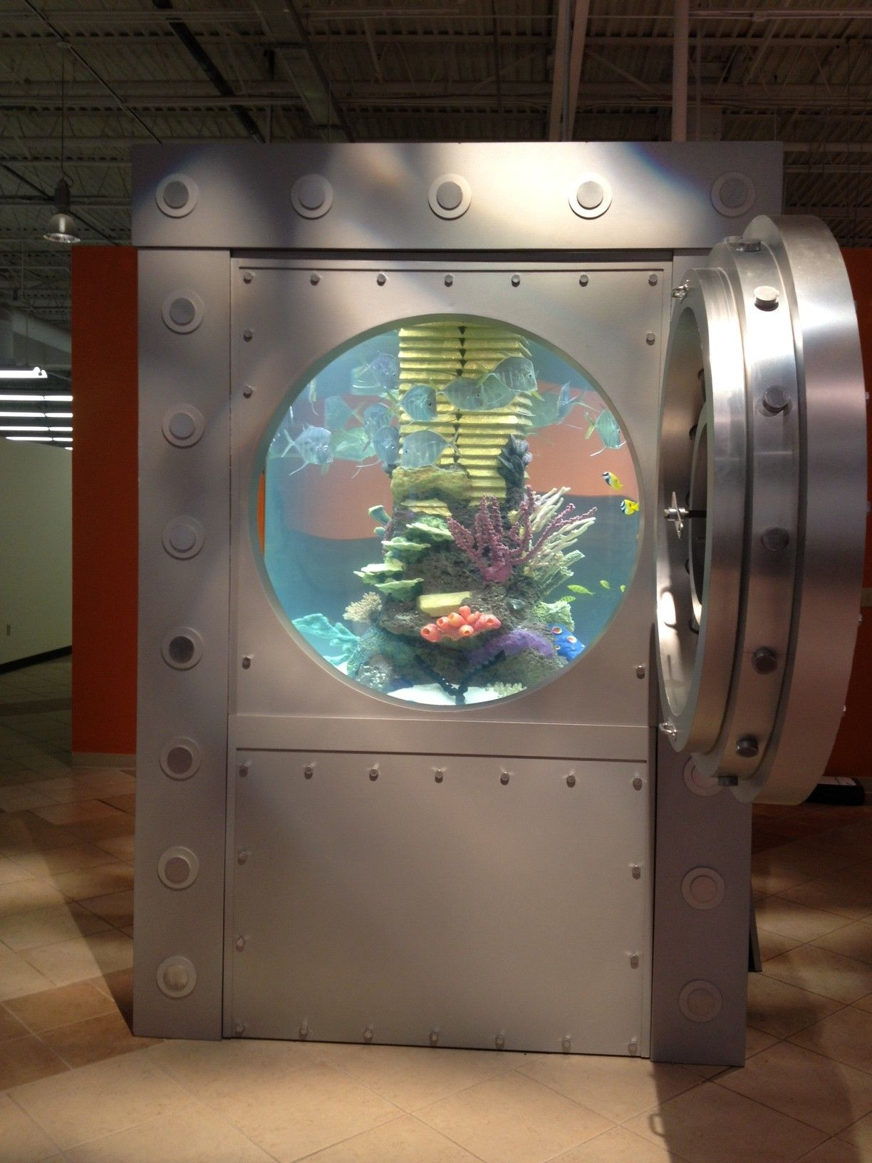 Our new office aquarium thanks to tanked fish stuff pinterest