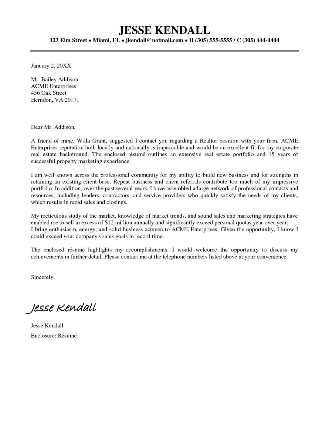 Resume Cover Letter Examples 2020