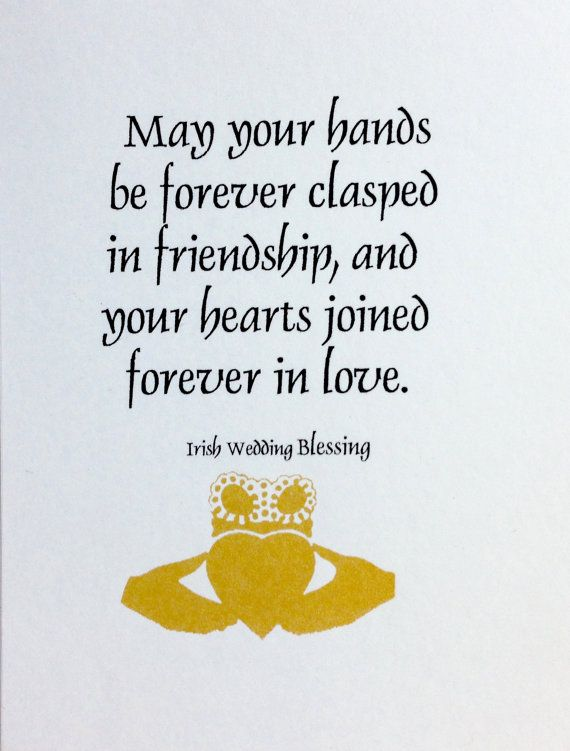 Irish Wedding Blessing By Girlzgoodz On Etsy Irish Wedding