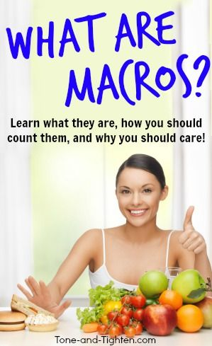 how to lose weight counting macros