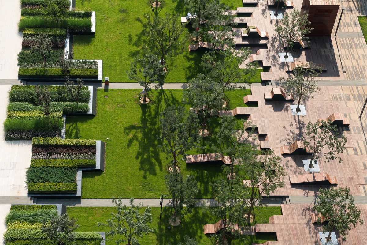 Beiqijia Technology Business District Landscape Architecture Design Landscape Architecture Contemporary Landscape Design