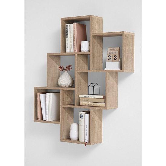 Rutland Wooden Wall Mounted Shelving Unit In Oak Furniture In Fashion Wall Shelves Design Bookshelves Diy Wall Shelf Decor