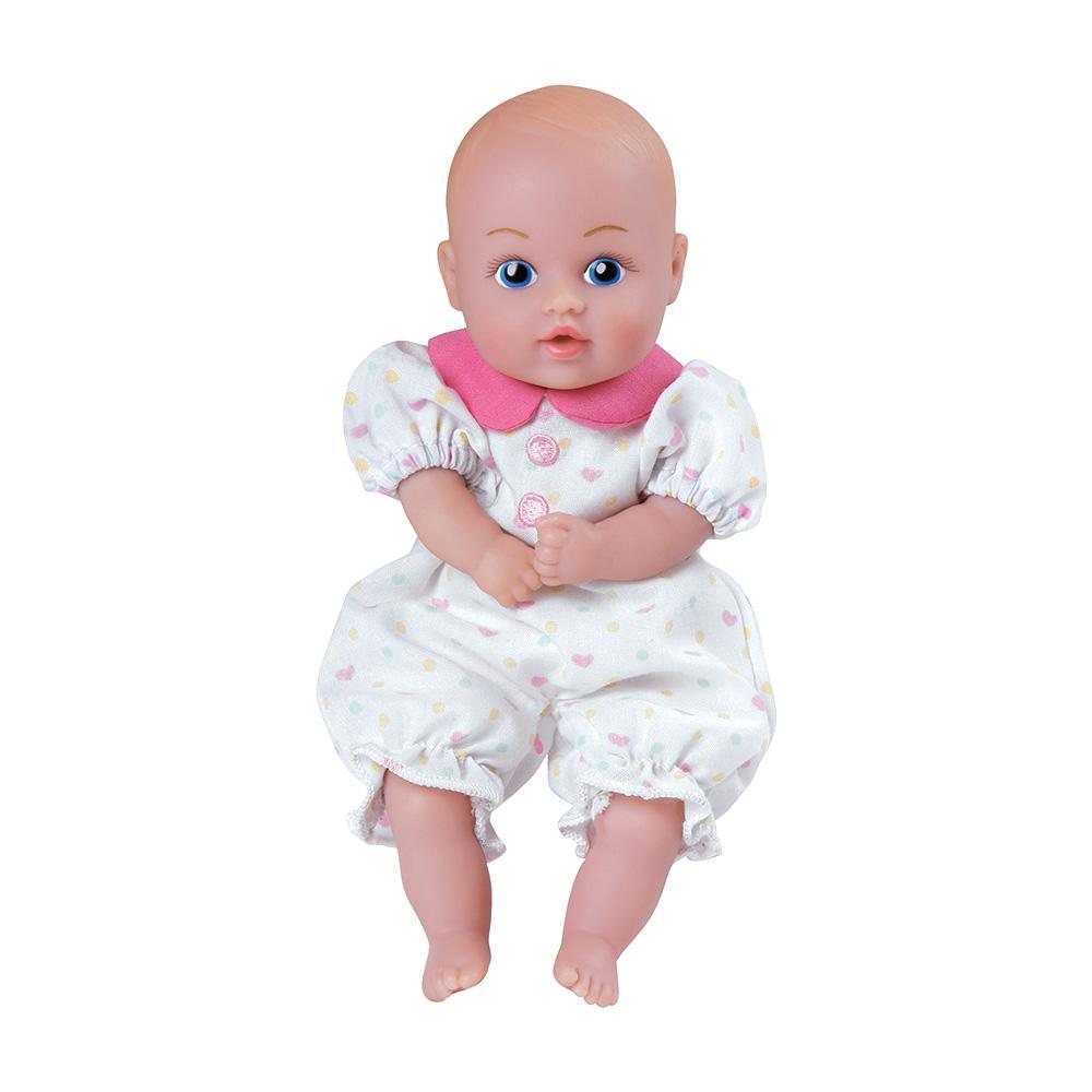 White Hearts Pjs Baby Tots Mini Baby Doll Cuddly Weighted Body