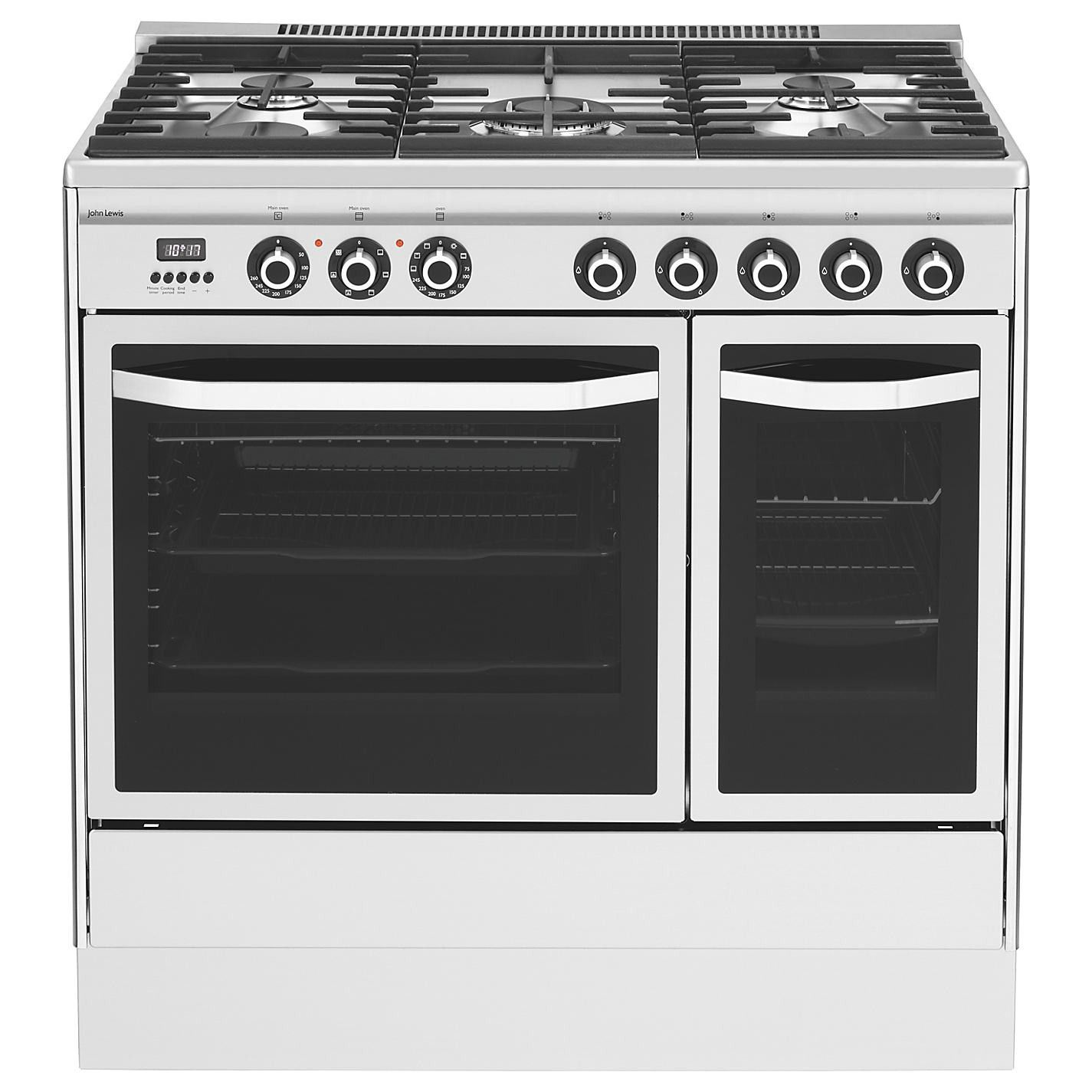 Graded John Lewis JLRC921 90cm Stainless Steel Twin Oven Range ...