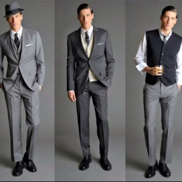 Mens Pose And Banana Republic Suit 50s Style Men 1950s