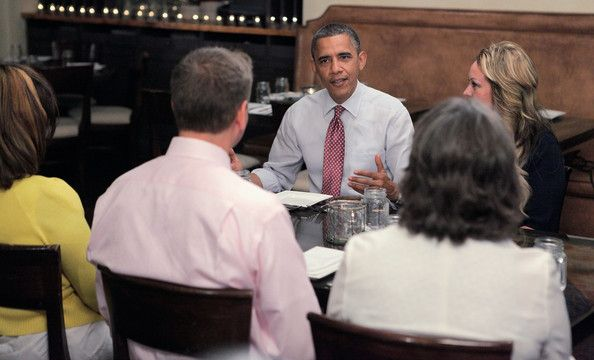 Obama Lunches With Winners Of Campaign Contest At White House 2012
