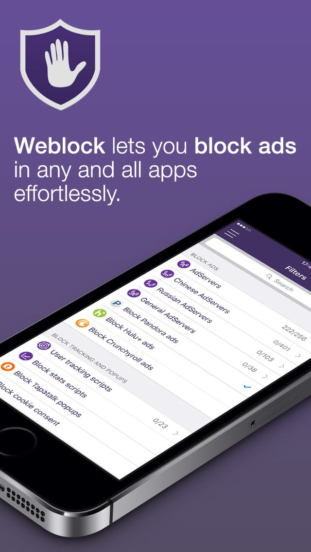 Weblock AdBlock for apps and websites by FutureMind gone
