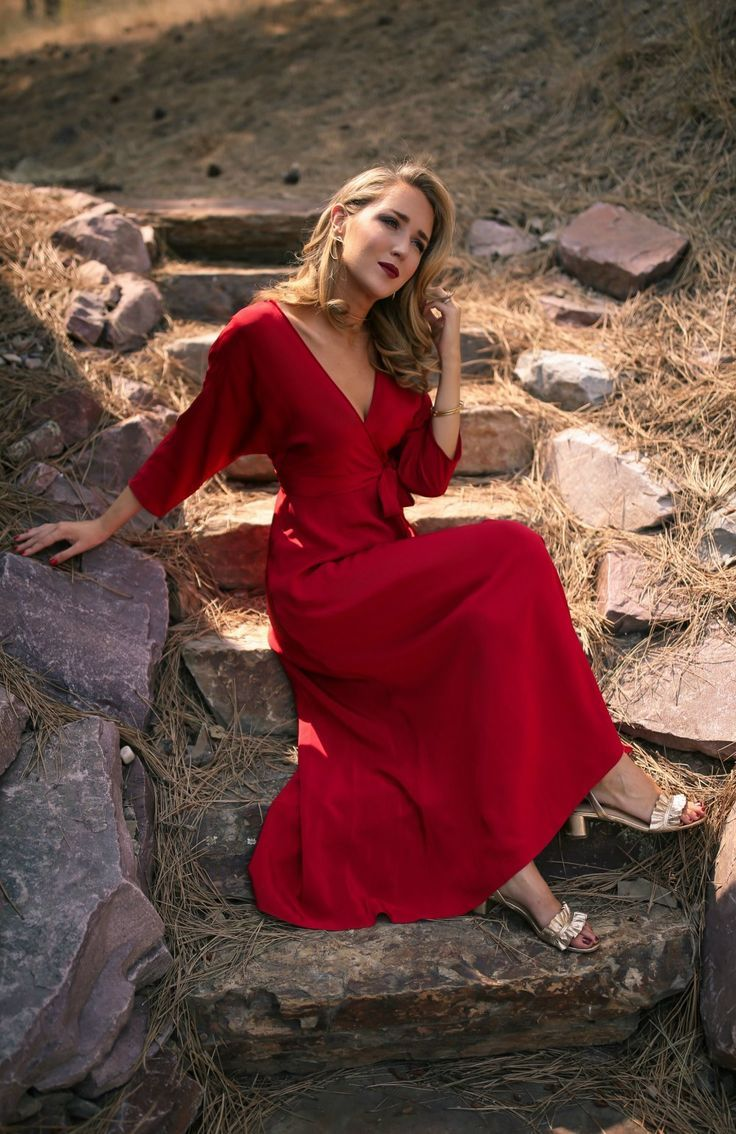 What To Wear To Fall Weddings Red Floor Length Wrap