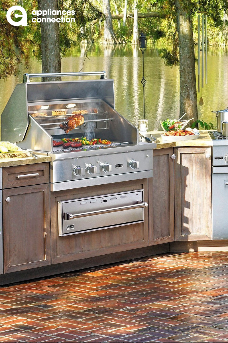 Outdoor Kitchen Appliance Package With 30 Built In Natural Gas