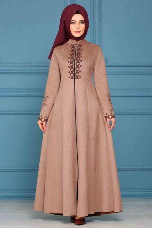 Modaselvim Ferace Lazer Detay Suet Ferace Ah3173 Vizon Model Pakaian Hijab Pakaian Wanita Model Pakaian