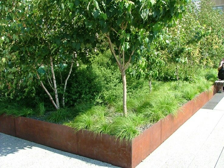 Corten Steel Raised Beds Landscape Design Corten Steel Planters