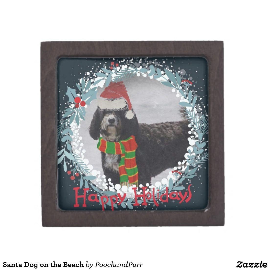 Santa Dog on the Beach Premium Gift Box