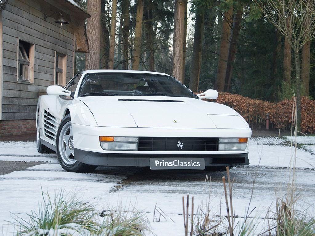 White Ferrari Testarossa Ferrari Ferrari Testarossa White Ferrari