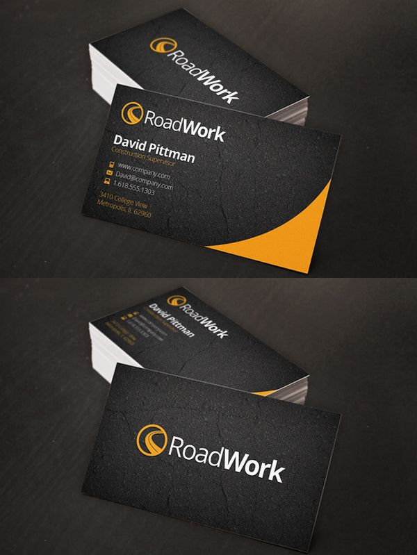 Construction Business Cards Businesscards Psdtemplates Visitingcard Corporatedesign