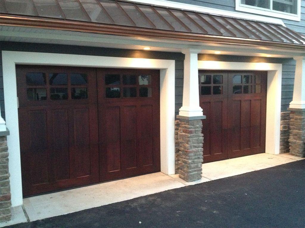 Inspiring Home Garage Door Design Ideas Must See25 Jpg 1 024 768 Pixels Garage Door Design Wooden Garage Doors House Exterior