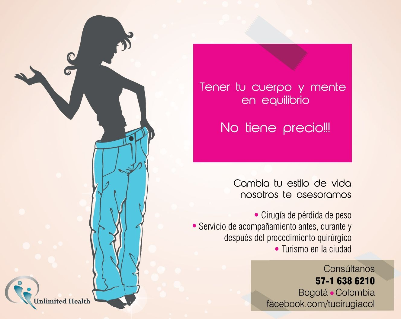 Perdida de peso, cirugia, estetica, belleza, turismo..
