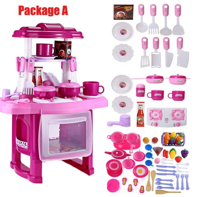 13 Pieces Children Mini Kitchen Utensils Toys Set Baby Gear City Kids Toy Kitchen Cooking Toys Toy Kitchen Set