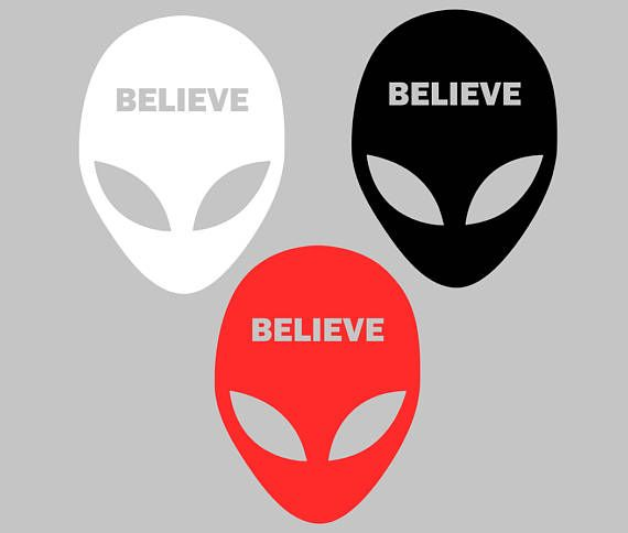 Alien Head ET UFO vinyl decal sticker for car laptop etc many colors and sizes