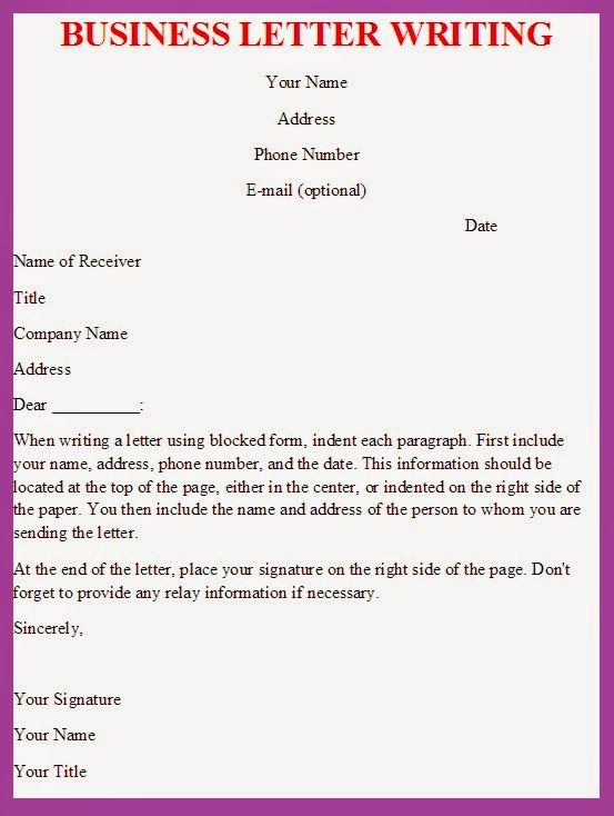 Writing Effective Business Letter Template Fields Correspondence