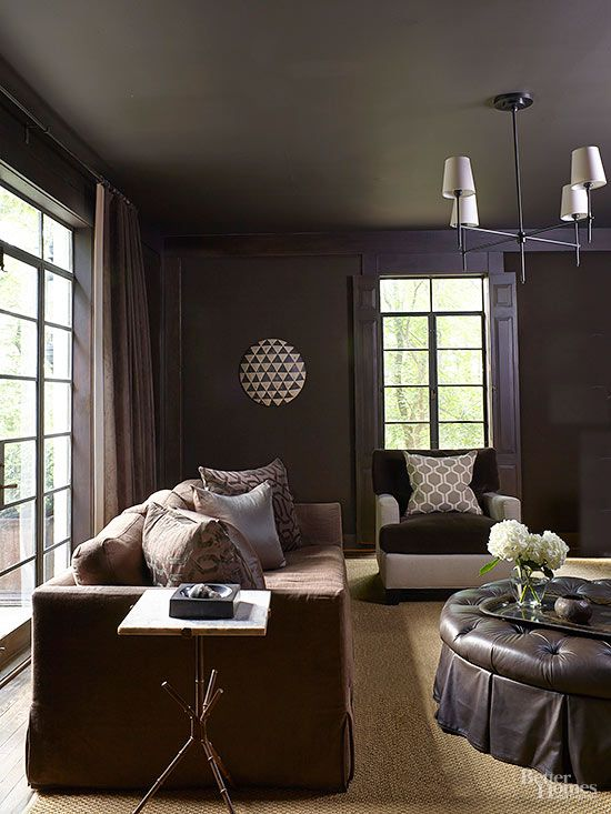 Monochromatic Looks That Work Monochromatic Room Black Living Room Blue Home Decor