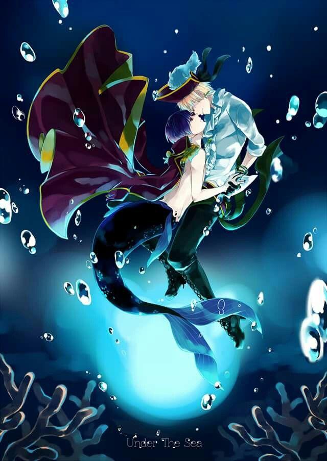 Pirate!England {Arthur Kirkland} and Mer!Japan {Kiku Honda} - Hetalia {AsaKiku}