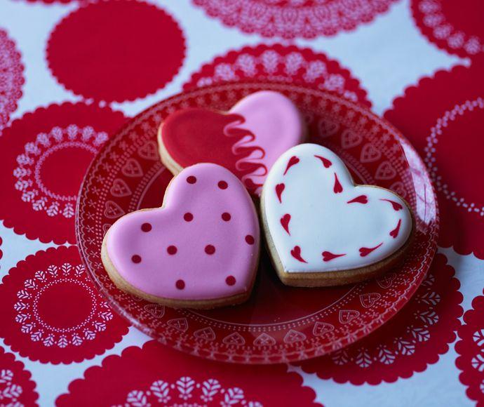 Herzkekse Valentinstag Tortendekorieren Herzkekse Herz Cookies