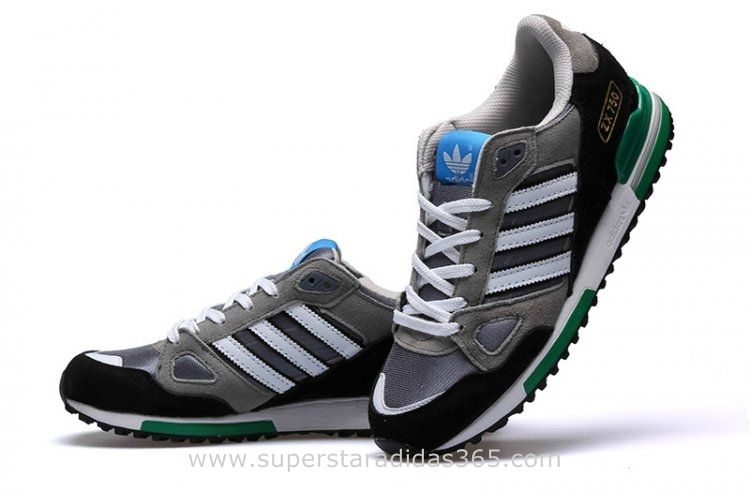cb5c3d7f9 Mens Adidas Originals ZX 750 Running Shoes Grey White Black Green Adidas Zx  750 Grey Green