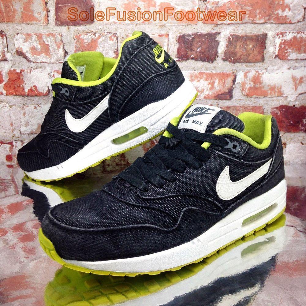 8cb73e2c0544b ... denmark nike air max 1 mens denim trainers black white size 8 premium  sneakers us 9